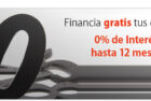 Financiación gratis 12 meses
